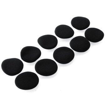 สีดำ 10ชิ้นใหม่แผ่นฟังหูฟังสำหรับ Sennheiser PX100 80 px200 หูฟัง-ระหว่างประเทศ