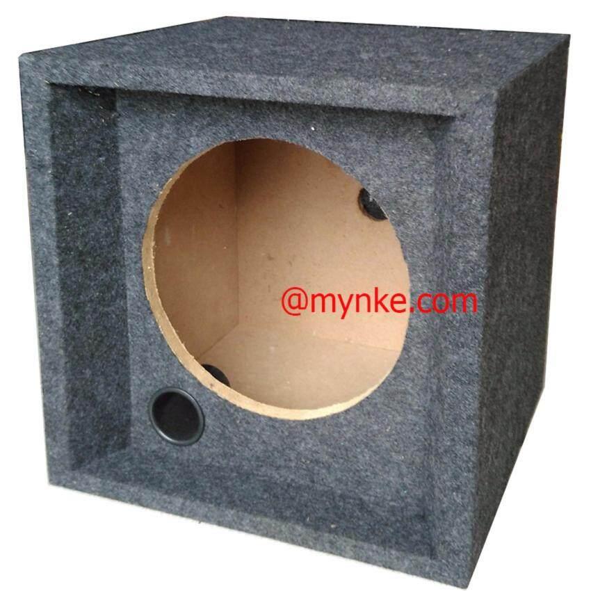 """ตู้ลำโพงเปล่า12นิ้วหุ้มกำมะหยี่ ซับวูฟเฟอร์ ลึก42ซม.Single 12"""" Sealed Car Audio Subwoofer Sub Box Enclosures image"""