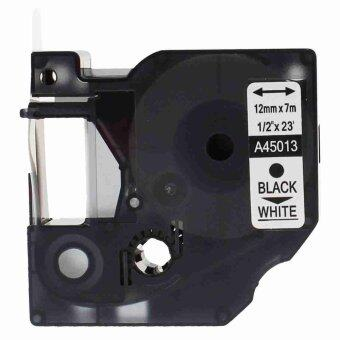 1pcs 45013 Label Tape Compatible for Dymo 45013 Black on White (1/2inch 12mm) x 7m - Intl
