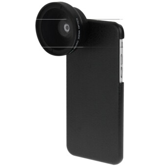 2 in 1 37mm Digital High Definition 0.45X Super Wide Angle Lens + Macro Lens with Phone Case for iPhone 6(Black)
