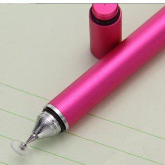 2 IN1 ปากกาเขียนหน้าจอ ipad iphone พร้อมปากกาลูกลื่น (สีชมพู)