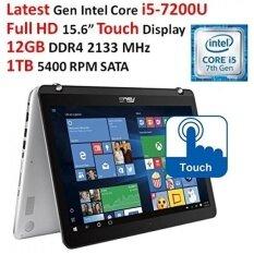 "2017 Asus 15.6"" Full HD Touchscreen 2-in-1 Convertible Laptop, Intel Dual-Core i5-7200U Processor, 12GB DDR4 RAM, 1TB HDD, Backlit Keyboard, 802.11AC Wi-Fi, Bluetooth, USB Type-C, Webcam, Windows 10 - intl"