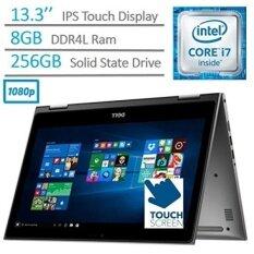 2017 Dell Inspiron 2-in-1 13.3-Inch Full HD Touchscreen Flagship Laptop PC, Intel Core i7-6500U 2.5GHz, 8GB DDR4, 256GB SSD, Backlit Keyboard, WIFI, Bluetooth, HDMI, Windows 10, Gray - intl