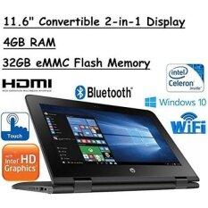 "2017 New HP x360 11.6"" HD (1366 x 768) Touch-Screen 2-in-1 Laptop, Intel Dual-Core Processor, 4GB DDR3L, 32GB Flash Memory, 802.11AC Wi-Fi, Bluetooth, HDMI, USB 3.1, Windows 10, Office 365 (1 Year) - intl"