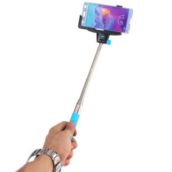 22cm Wireless Shutter Extension Pole Mount Selfie Stick (Blue)