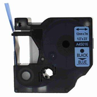 2pcs 45016 Label Tape Compatible for Dymo 45016 Black on Blue (1/2inch 12mm) x 7m - Intl