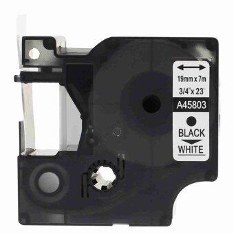 2pcs 45803 Label Tape Compatible for Dymo 45803 Black on White (3/4inch 19mm) x 7m - Intl