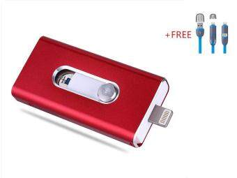 3 in 1 Flash Drive OTG 512GB phone U Disk For Iphone/Iphone 7/Android +Free 2 in 1 usb cable(red)