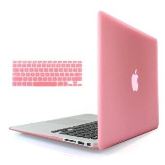 "3 in 1 Matte Apple MacBook Pro 13"" Case Soft-Touch Plastic Hard Case Cover + Anti-dust Plug + Keyboard Cover for Macbook Pro 13'' ( Models: A1278) - intl"