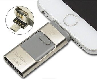 3 in 1 memory stick 16GB Otg Usb Flash Drive For iPhone7/ipad/PC/Android—silver - intl