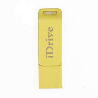 32GB i Flash Drive External Storage USB Flash Drive USB 2.0 for iPhone iPad PC (Gold)