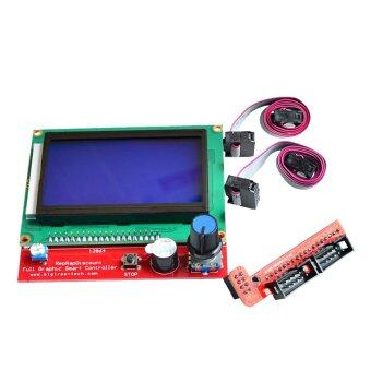 3D Printer LCD Display Smart Controller Control Panel with Adapter for Ramps 1.4 Reprap 3D Printer Accessories