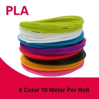 3D Printer Pen High Quality Filament PLA 1.75MM for 3D Pens (1 Package:8 Color* 80 Meter*10 Meter Per Roll)