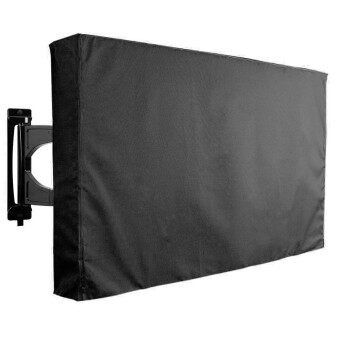 "50""-52"" Black TV Cover Outdoor Patio Television Flat Protector Weatherproof - intl"