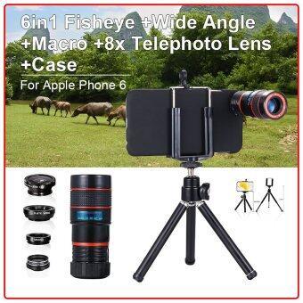 "6 in1 Mini Lens Kit (Fisheye Wide Angle Macro Tele) + Case for iPhone 6 4.7"""