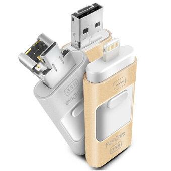 64GB 64GB 64GB OTG USB Flash Drive for iphone 6/5 ipad lightning Pen drive Micro Usb(Gold) - intl