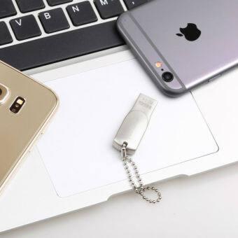 64GB 64GB 64GB Real Capacity Mini 2 in1 OTG i-Flash Drive HD U-dick for iphone 6s Plus 5 5S ipad(silver)