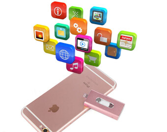 64GB 64GB 64GB Real Capacity Mini 3 in1 OTG for iphone 6s Plus 5 5S ipad(rose gold) - intl
