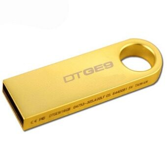 64GB USB 2.0 Flash Drive Metal Memory Stick Pen Key Storage Thumb UDisk (Gold)