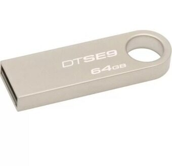 64GB USB 2.0 Flash Drive Metal Memory Stick Pen Key Storage Thumb UDisk (Silver)