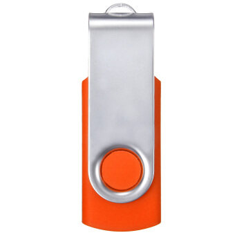 64MB USB 2.0 Swivel Flash Memory Stick Pen Drive Storage Thumb (Orange)