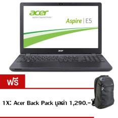 "Acer Aspire E5-432G-P7PY(NXMZJST008) PenN3710 4GB 500GB GT920M2GB Linux 14"" (Black) ฟรี 1X: Acer Back Pack มูลค่า 1,290.-"