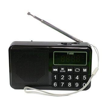 ลำโพงวิทยุ AM/FM ลำโพง Mp3/USB/Micro SD Card รุ่นT-608 (black)