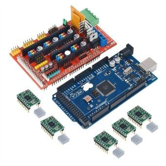 AMPS 1.4 REPRAP 3D Printer Controller Mega2560 R3(Arduino Compatible) 5pcs A4988 Stepper Driver Module for 3D Printer Prusa Mendel MakerBot