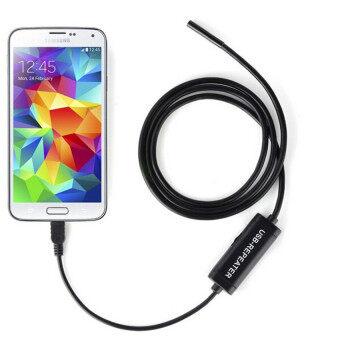 Android Endoscope Waterproof Camera 7mm USB 3.5M/1M (Black) - intl