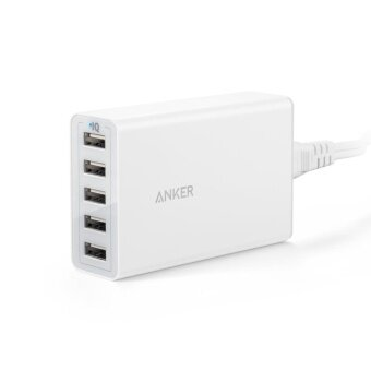 Anker 40W/8A 5 USB Port Smart Charging High Speed Charger WallCharger for iPhone 7 A2124 - intl