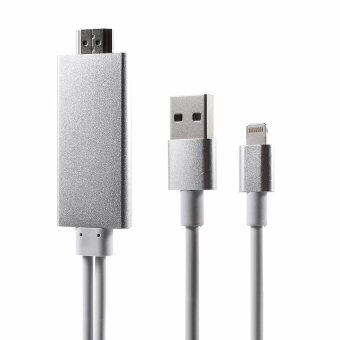 Anycast สาย iPhone HDMI Lightning HDMI To TV Lightning Digital AVAdapter ใช้กับ iPhone 5 5s 6 6s 6+ ipad iso9 ยาว2m (White)