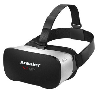 Arealer VR SKY All-in-one Machine Virtual Reality Headset 3D Glasses 1080p 5.5Inch TFT Display Screen 100?FOV Supports 70Hz FPS 2D / 3D / Panorama / Three-dimensional Immersive WiFi Bluetooth 4.0 w /USB port TF Card Slot EU Plug (Intl) - intl