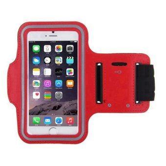 Armband สายรัดแขนสำหรับออกกำลังกาย IPhone 6,IPhone 6S (สีแดง)