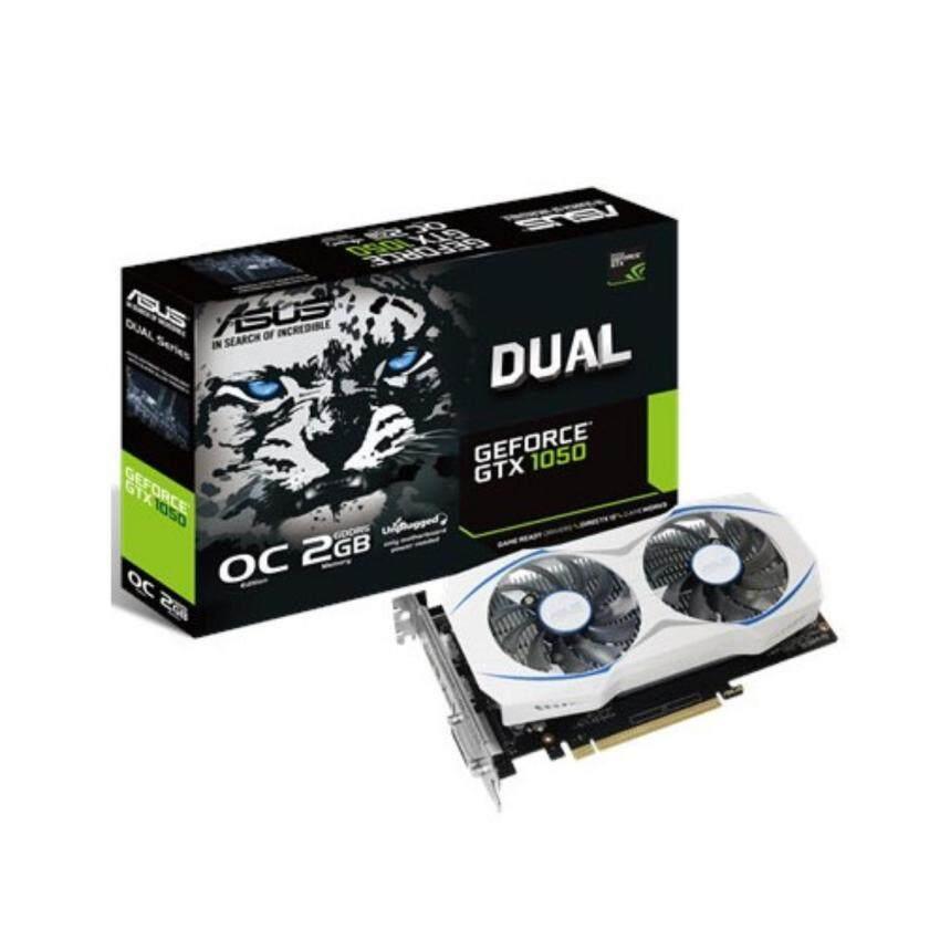 ลด50%Asus Dual GeForce GTX1050 2GB GDDR5 OC (DUAL-GTX1050-O2G) -3YEARS-By Synnex,Sis,Scanner ซื้อเลย