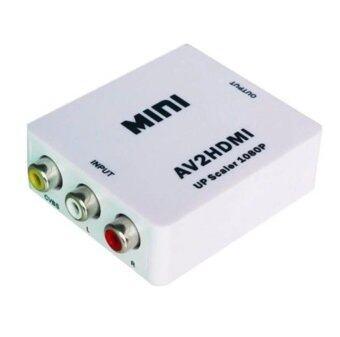 ชุดกล่องแปลงสัญญาณ AV to HDMI, Mini AV2HDMI converter (สีขาว)