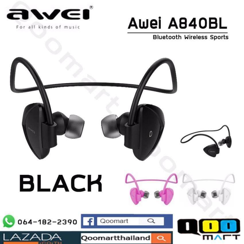 Awei A840BL หูฟังบลูทูธทรงสปอต มี 3 สี (ดำ,ขาว,ชมพู)