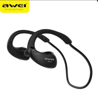 Awei A885BL Wireless Bluetooth Headset Waterproof IPX4 Earphones NFC - intl
