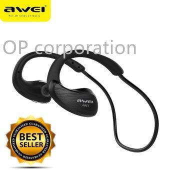 AWEI หูฟังบลูทูธ Bluetooth Sports Stereo Headset รุ่น A885BL (BLACK)
