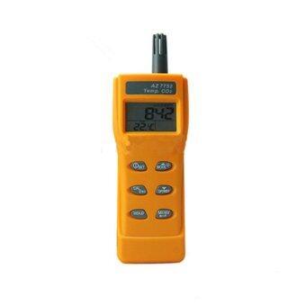 AZ Instrument เครื่องวัดแก๊ส Handheld CO2 & Temp Meter รุ่น 7752 (สีเหลือง)