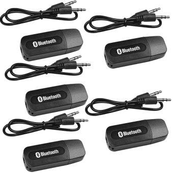 BEST USB Bluetooth Audio Music Wireless Receiver Adapter 3.5mm Stereo Audio (Black) 5PCS