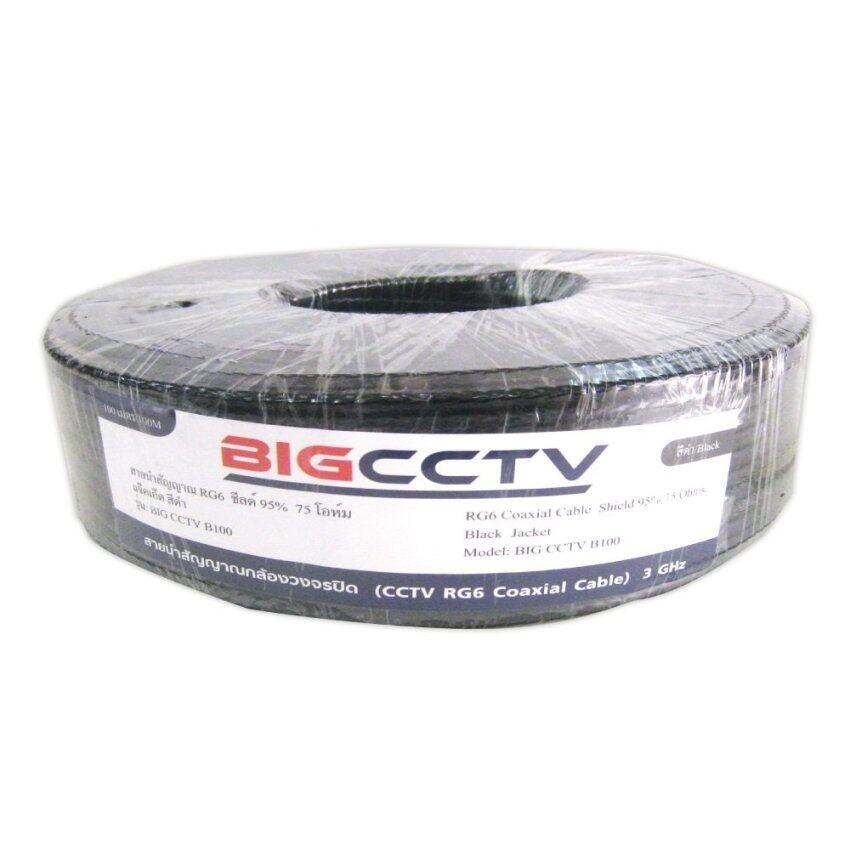 BIG CCTV สายกล้องวงจรปิด ชิลด์ 95% 100 ม. - สีขาว image
