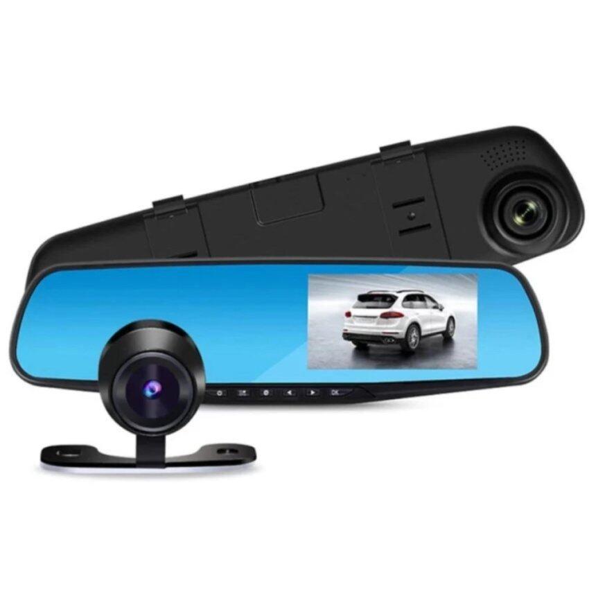 Blackbox DVR กล้องติดรถยนต์ (Car DVR) Full HD 1080P กล้องหน้า+กระจกมองหลังในตัวมูลค่าของ ...