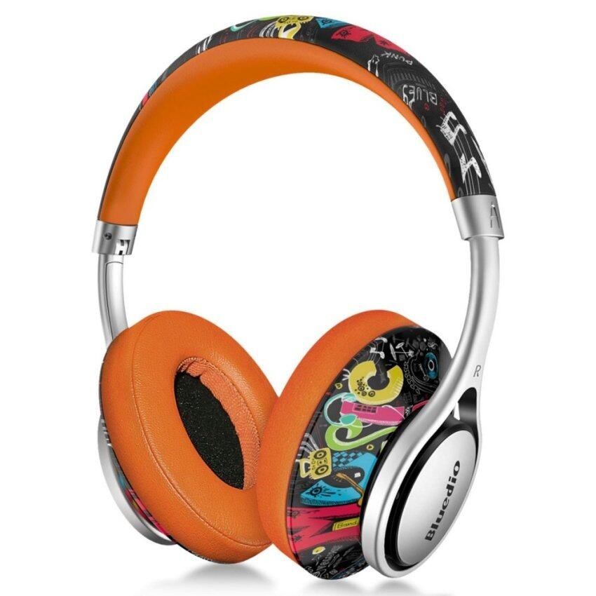 Bluedio A Lightweight Stylish Stereo Wireless Bluetooth Headphones with Mic (Doodle) - intl