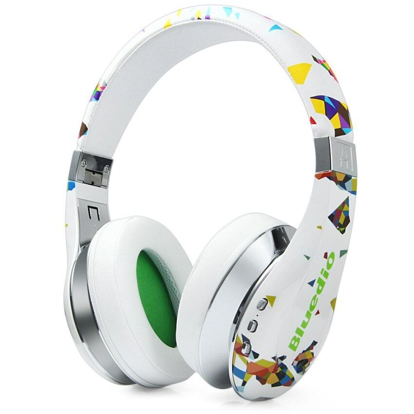 Bluedio Bluetooth V4.1 Stereo HiFi Headset Wireless Bluetooth Headphone (White)