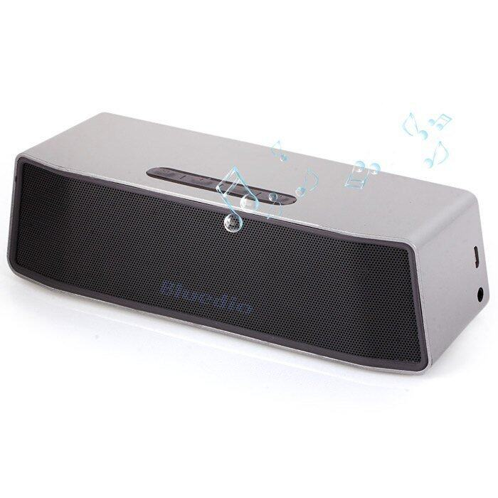 Bluedio BS-2 Mini Bluetooth V4.1 Speaker Portable Wireless Loudspeaker System with 3D Stereo Music Sound (SILVER)