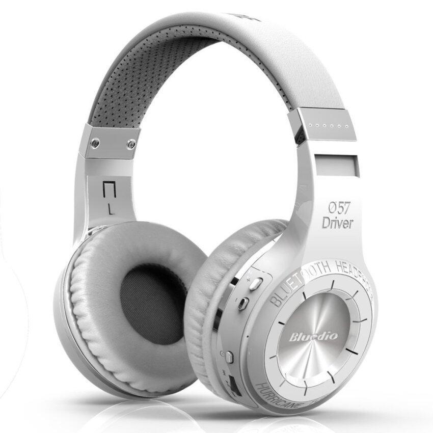 Bluedio HT Hurricane Turbine Wireless Headset Bluetooth 4.1 Stereo Headphones With Mic (White) - intl