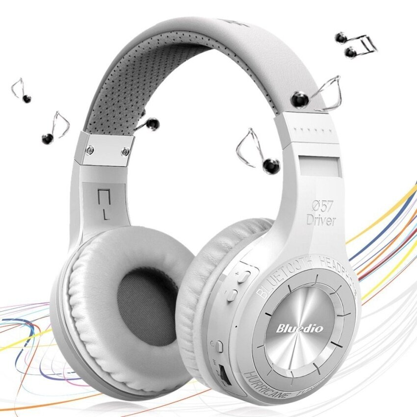 Bluedio HT Wireless Bluetooth 4.1 Stereo Headphones Built-in Mic Handsfree for Calls Music Headset Earphones(White) - intl