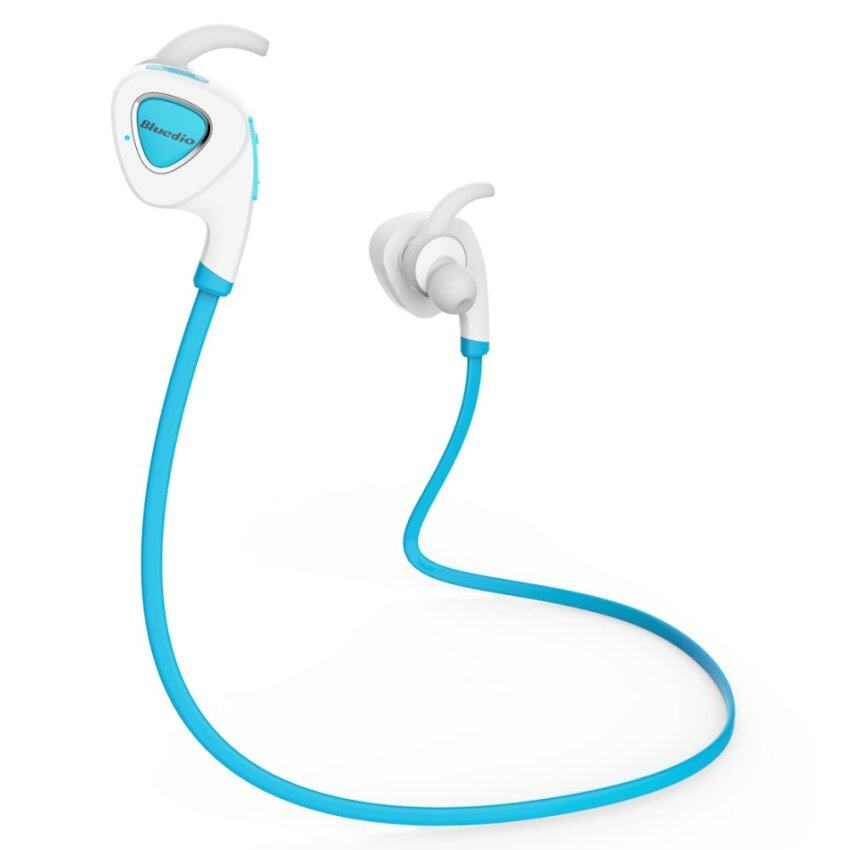 Bluedio Q5 Wireless Bluetooth 4.1 Earphone Stereo Sport Sweatproof Headset (Blue)