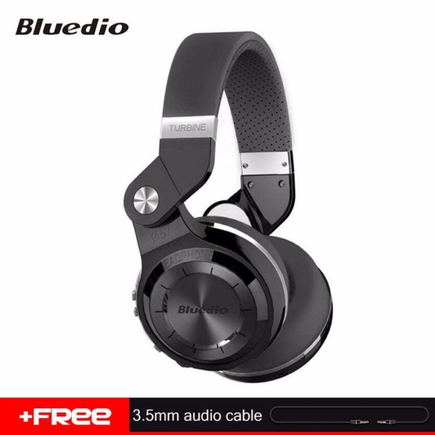 Bluedio T2+ หูฟังบลูทู ธ แบบใหม่ที่สามารถพับเก็บได้ BT 4.1 สนับสนุนวิทยุ FM และการ์ด SD การ์ดเพลงและโทรศัพท์ (สีน้ำเงิน)