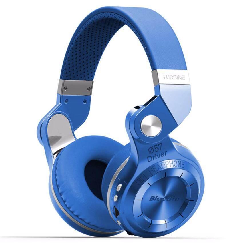 Bluedio T2+ Plus หูฟังแบบครอบหู aptX Bluetooth 4.1 Stereo Headphones with Mic ( สีน้ำเงิน )